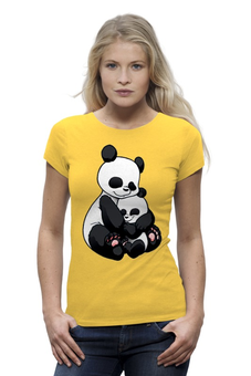 """Футболка Wearcraft Premium (Женская) """"Панда с малышом """" - мимимишки"""