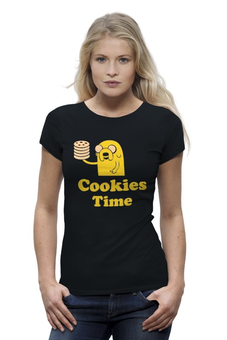 "Футболка Wearcraft Premium ""Jake cookies"" - adventure time, время приключений, jake, cookies"