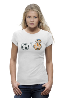"Футболка Wearcraft Premium ""BB-8 (Star Wars)"" - футбол, star wars, мяч, звездные войны, bb-8"