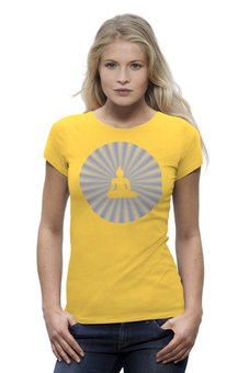"""Футболка Wearcraft Premium """"Сияние Будды"""" - медитация, будда, буддизм"""