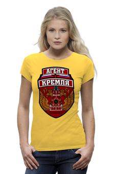 """Футболка Wearcraft Premium (Женская) """"Агент Кремля"""" - россия, герб россии, орёл, кремль, триколор"""