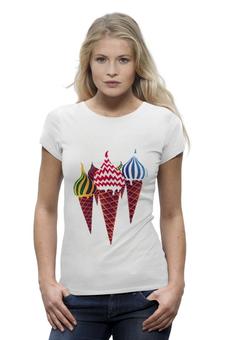 """Футболка Wearcraft Premium """"Moscow cream"""" - москва, moscow, столица, icecream"""