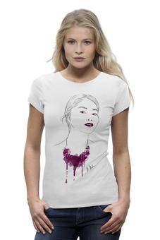 """Футболка Wearcraft Premium """"Девушка в пурпурном колье"""" - арт, футболка женская"""