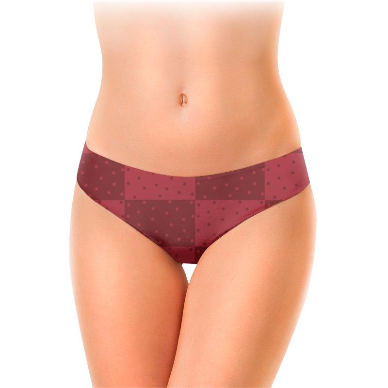 Женские трусы-слипы Printio Красный геометрический узор