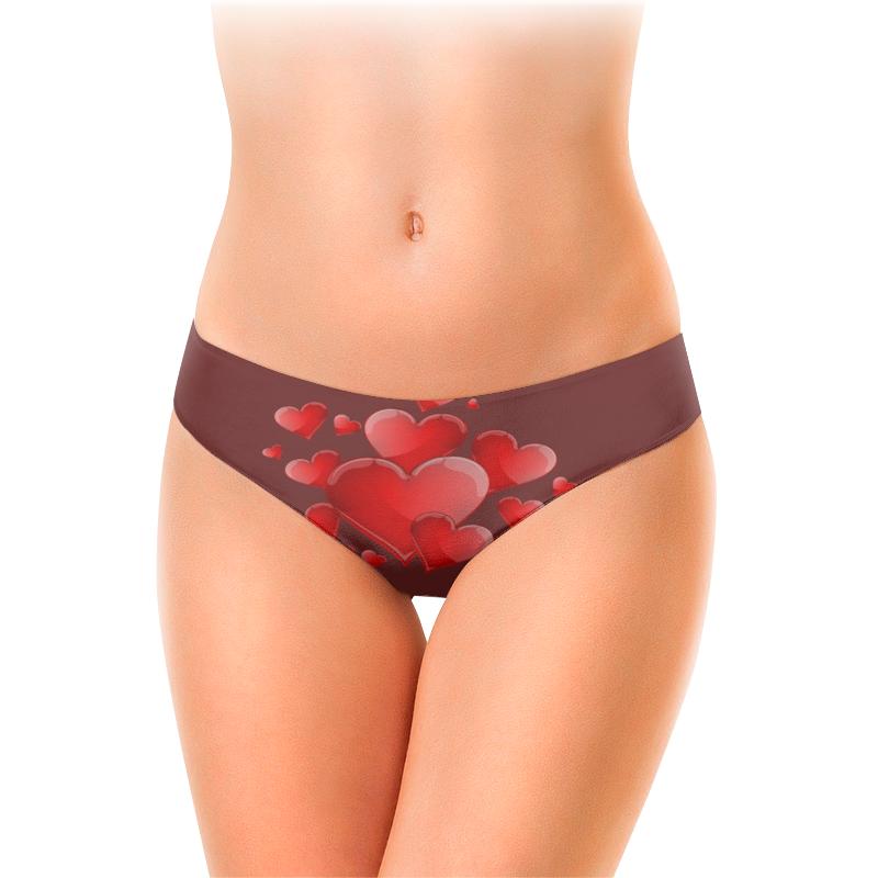Женские трусы-слипы Printio Красные в шоколаде.