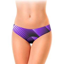 """Женские трусы-слипы """"Фиолетовая фантазия."""" - сиреневый, фиолетовый, абстракция, фантазия, лиловый"""