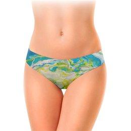 """Женские трусы-слипы """"Морская абстракция"""" - абстракция, тропический, морской, солнечный"""